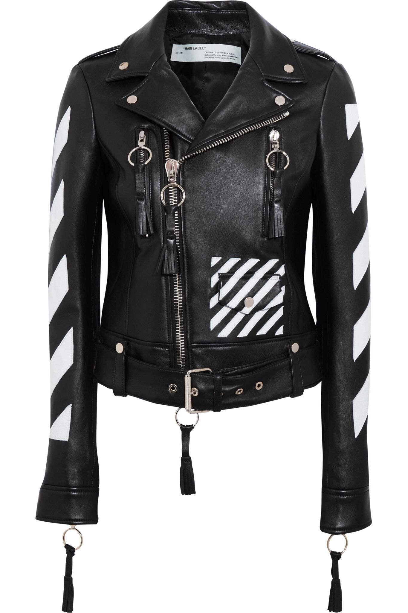 Off White Off white jacket, Jackets, Leather jacket