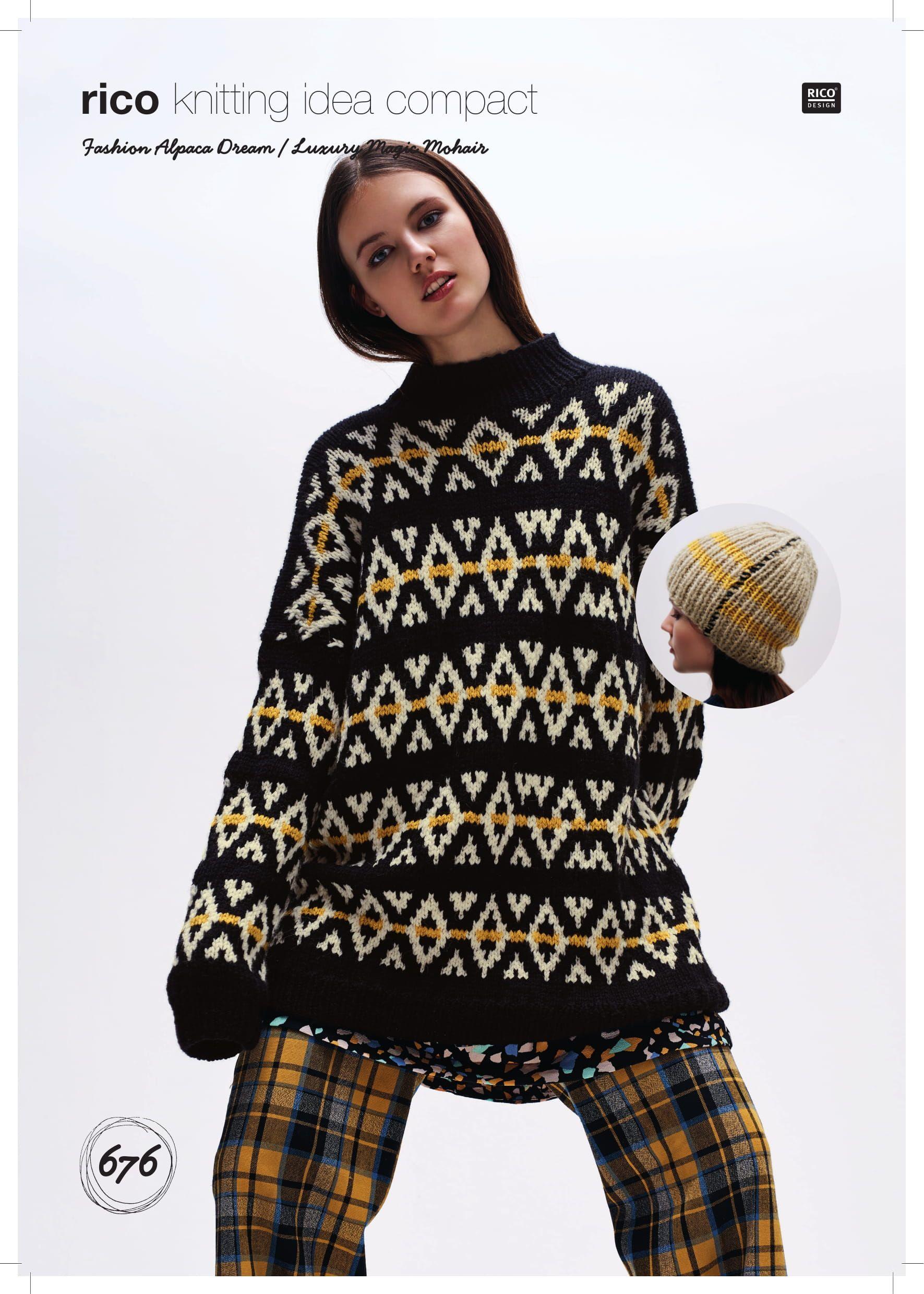 Sweaters Pattern 7338 Sirdar Crofter DK
