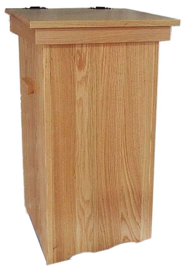 This is a unique and useful Amish Furniture Oak Hinge Top ...