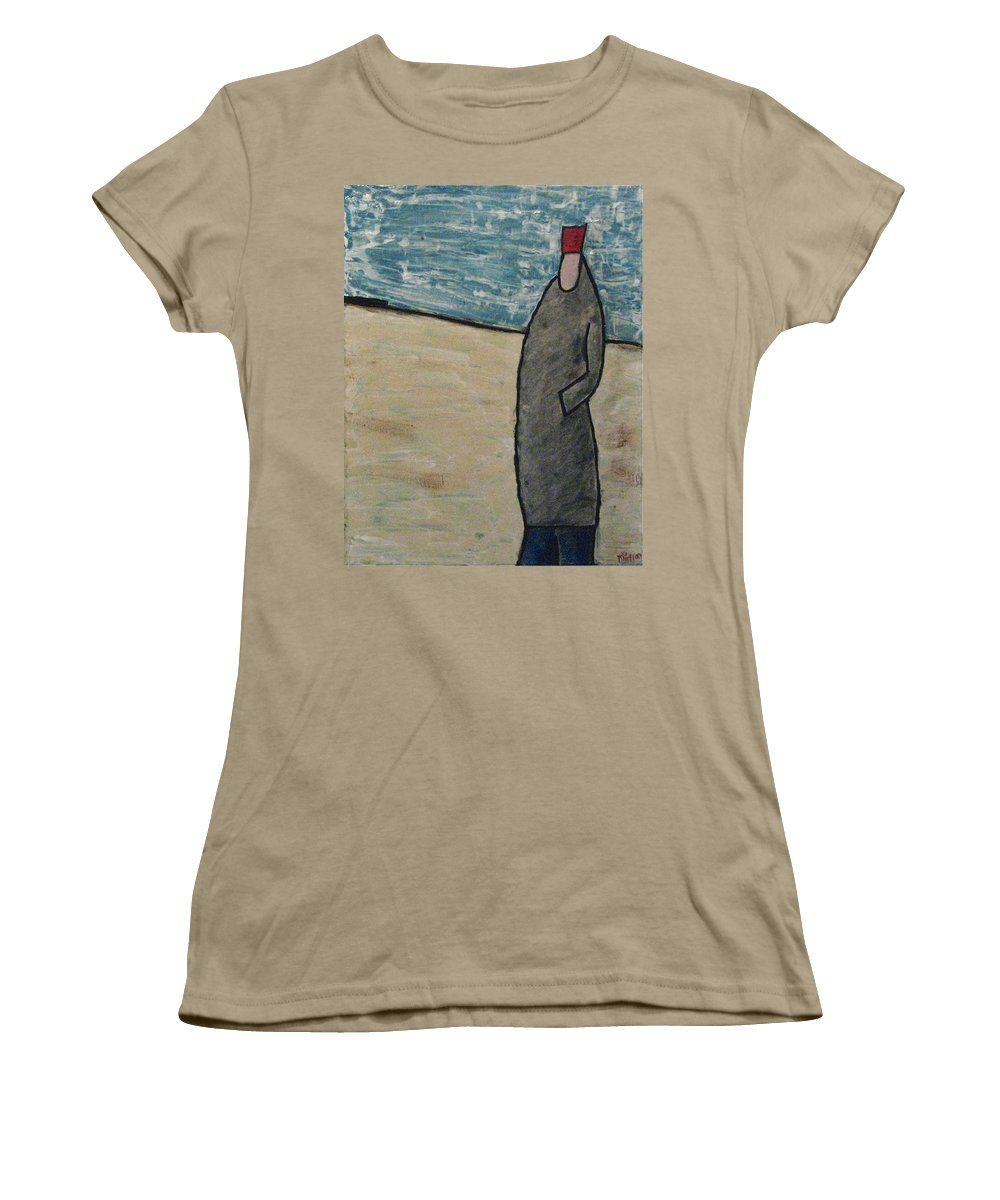 People Women's T-Shirt (Junior Cut) featuring the painting Pardon Me But Can I by Mario Perron http://1-mario-perron.pixels.com/ #style #art