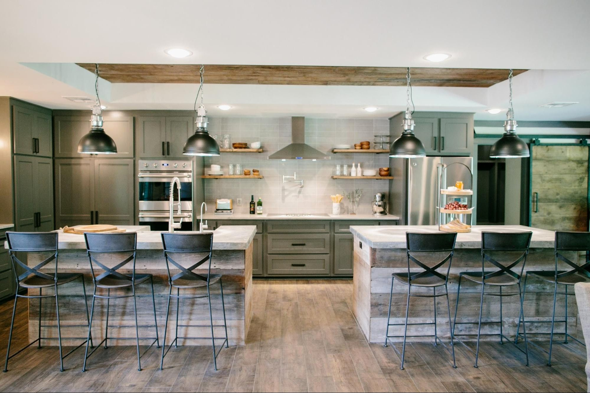 awesome two islands in kitchen gl kitchen design | Fixer upper ...