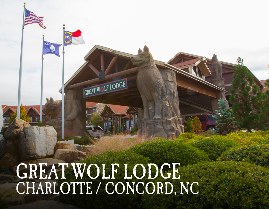 Your Great Wolf Lodge adventure begins in our massive, 84-degree indoor water park. Pin your favorite activities to your own board and start picturing your Great Wolf Lodge Charlotte/Concord getaway!