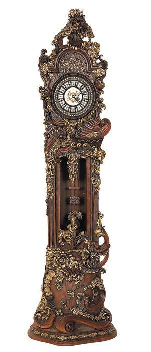 Hand-carved Grandfather Clock, Beautiful!