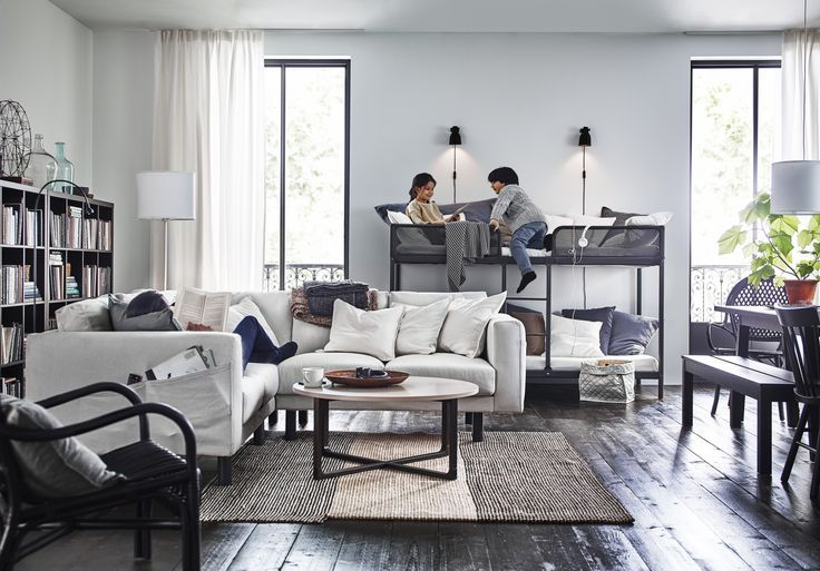 TUFFING Frame stapelbed, donkergrijs | Living rooms, Playrooms and ...
