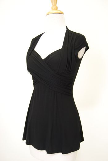Double Crossed Blouse in black from Red Dress Shoppe. $38 although ...
