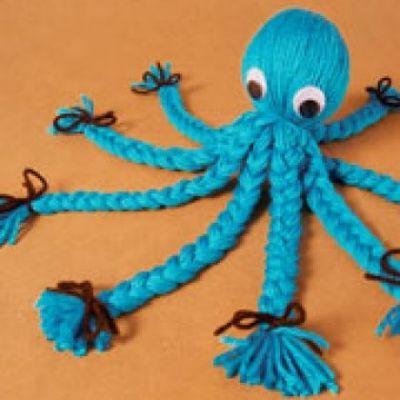 Yarn Octopus | Craft Ideas | Pinterest