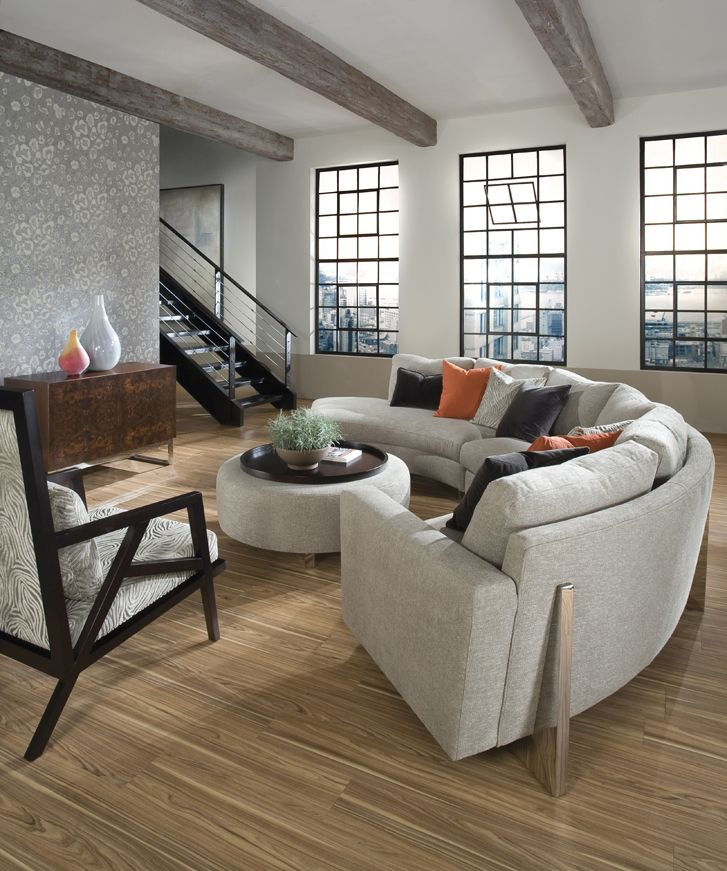 Cool Clip Sectional Sofa And Clip Ottoman From Thayer Coggin