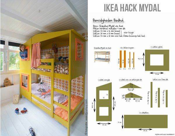 Ikea Etagenbett Mydal : Ikea hack mydal bed werkbeschrijving how to make it u2022u2022 kids