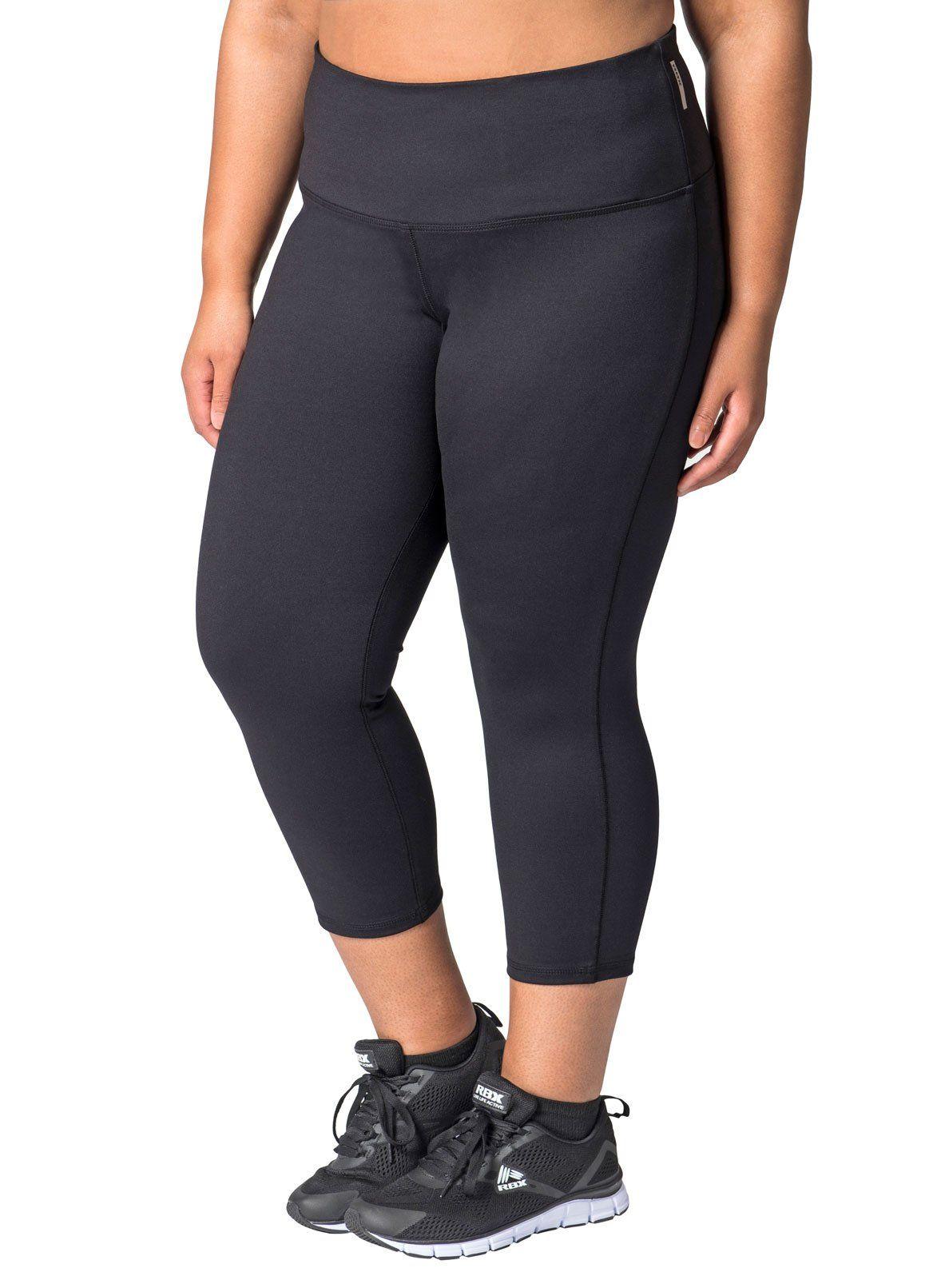 226b45e1dda RBX Active Women s Plus Size Workout Yoga Leggings Black 2X. X-Dri moisture  wicking