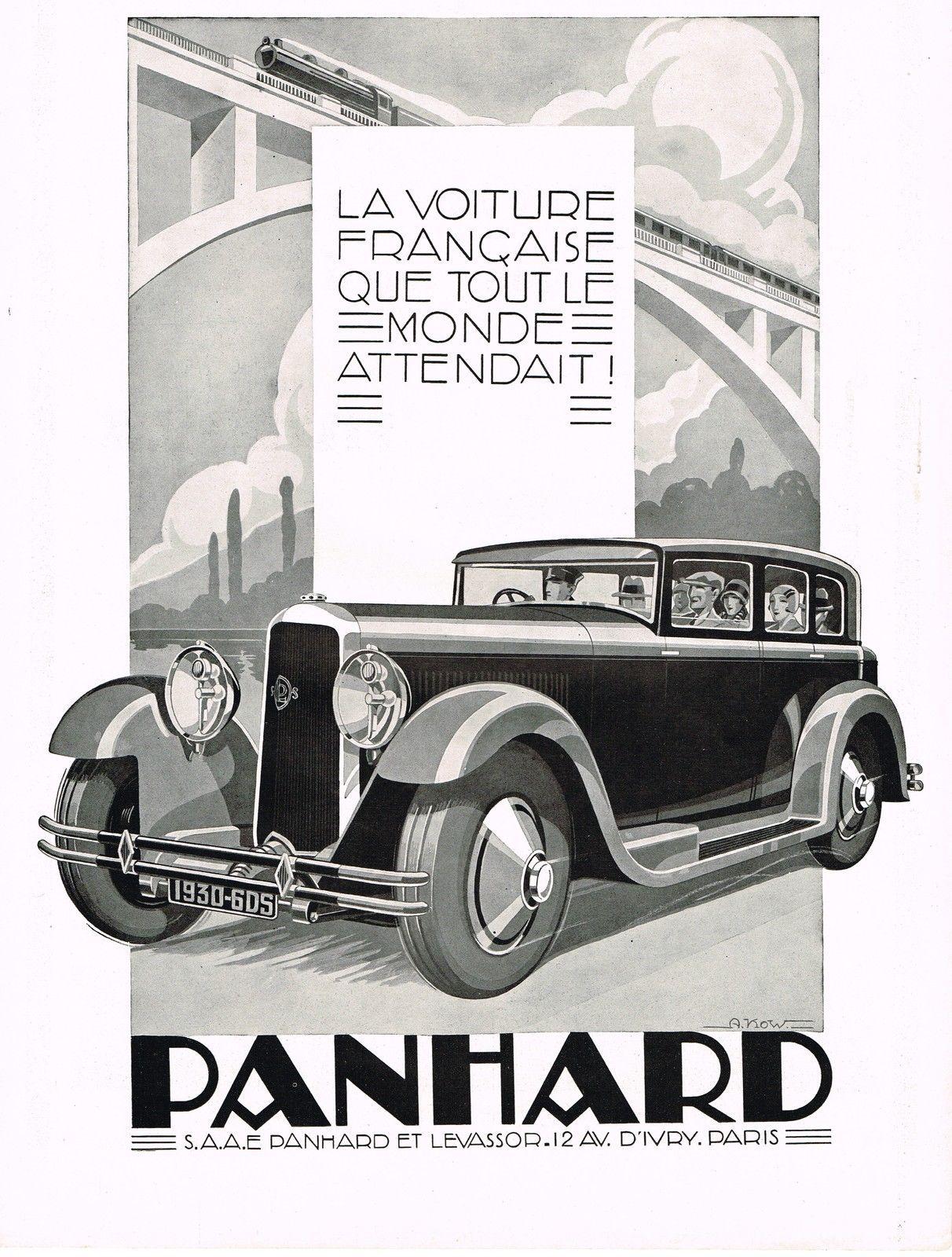 1920\'s Big Original Vintage Panhard French Auto A Kow Car Art Deco ...