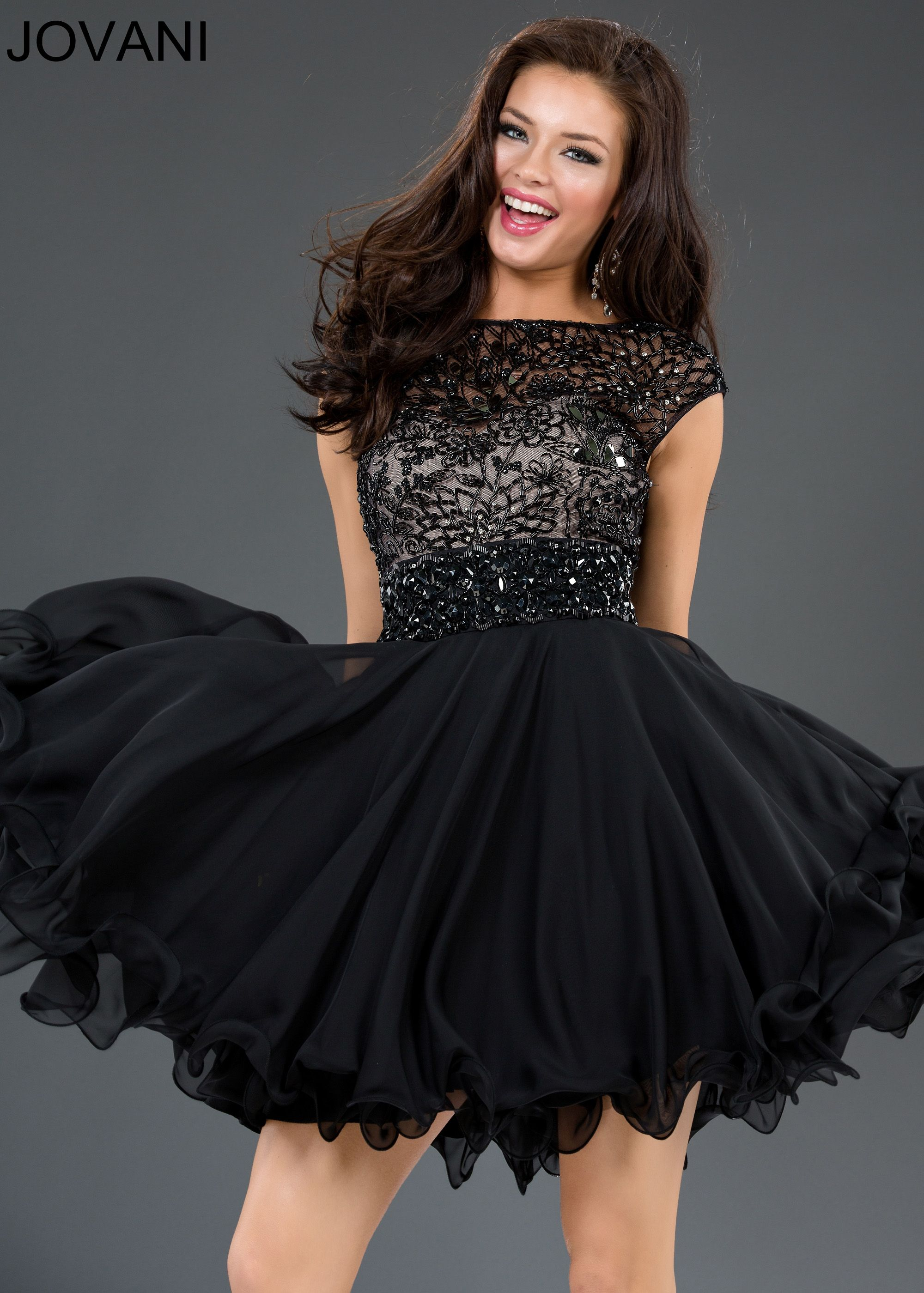 cc2781d1f95 Jovani 77894 - Black Sleeveless Short Homecoming Dresses Online ...