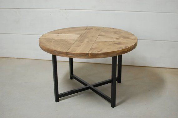Small Round Coffee Table.Round Industrial Coffee Table Round Coffee Table Reclaimed Wood