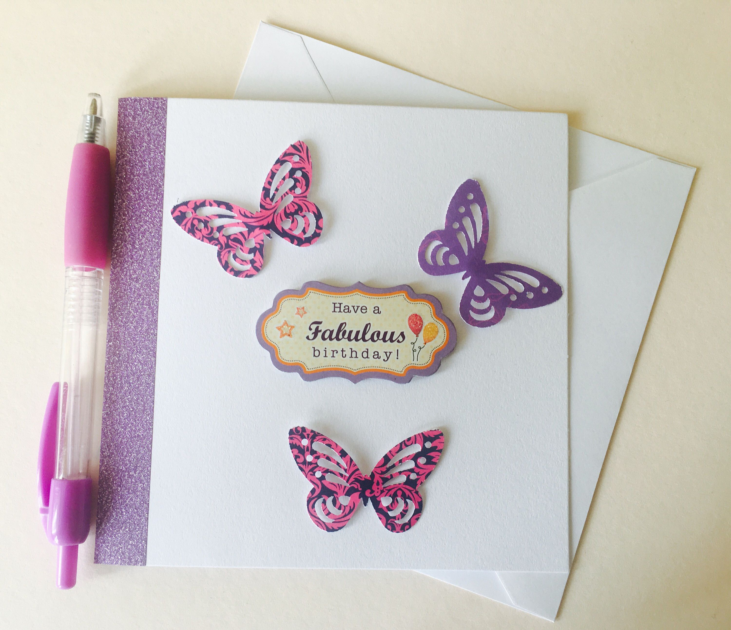 Fabulous birthday card butterfly birthday card handmade cards fabulous birthday card butterfly birthday card handmade cards for girls by creationsbylindsay17 on etsy kristyandbryce Images