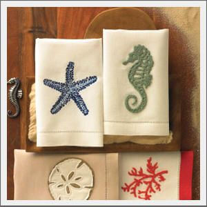 Coastal Home Starline Starfish Embroidered Towel Collection
