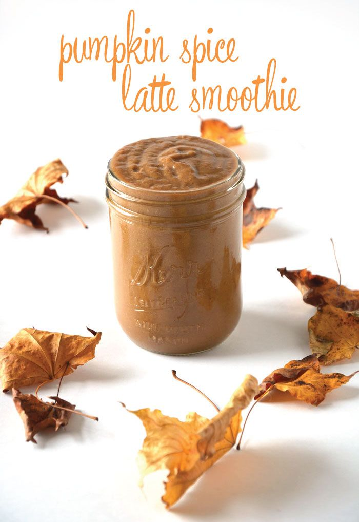 This delicious, healthy and vegan pumpkin spice latte smoothie is the perfect way to re-fuel after a tough workout or to just enjoy on a crisp fall morning.