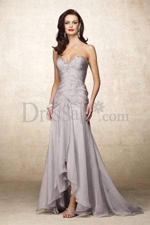 Dressale:Elegant Mother of the Bride Dress with Brilliant Crisscross Bodice