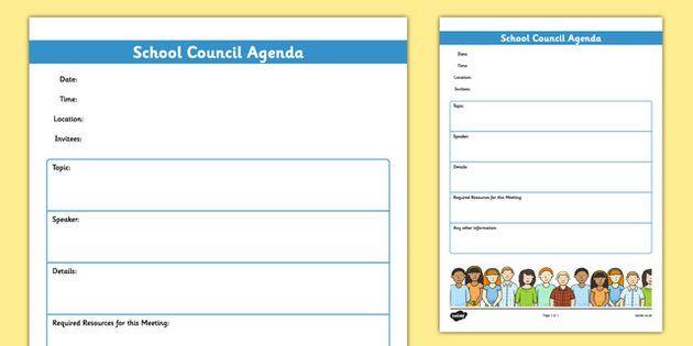 School Council Meeting Agenda Template – School Agenda