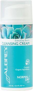 Aubrey Organics EveryDay Basics Cleansing Cream sopii ihanteellisesti normaalille ja kuvalle. Puhdistaa hellävaraisesti meikin ja epäpuhtaudet sekä ylläpitää ihon luonnollista kosteustasapainoa.