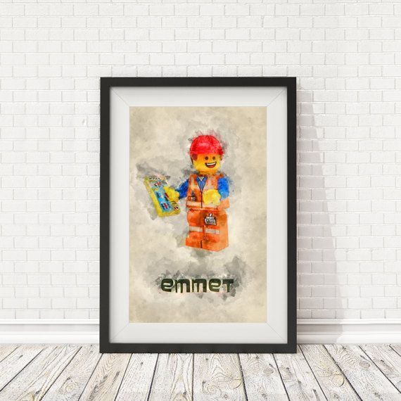 Lego Wall Decor emmet lego movie lego print wall decor print par batlabprintables