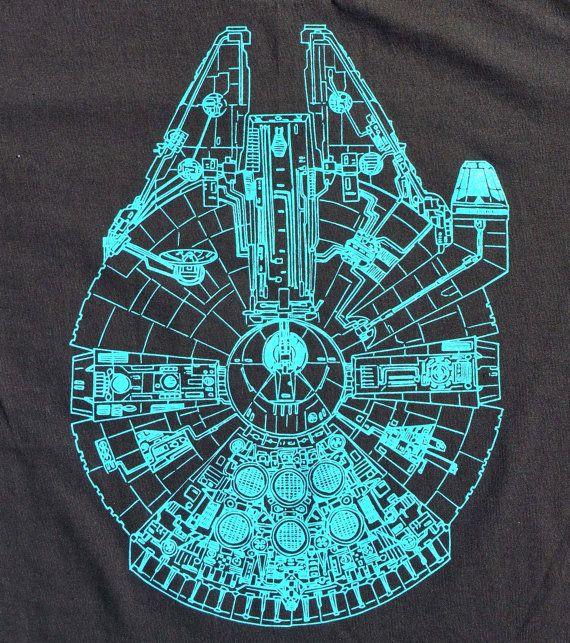 Millennium Falcon T-shirt Blueprint