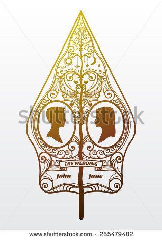 a temporer style combine gunungan javanese puppet and cameo seni ornamen undangan pernikahan a temporer style combine gunungan