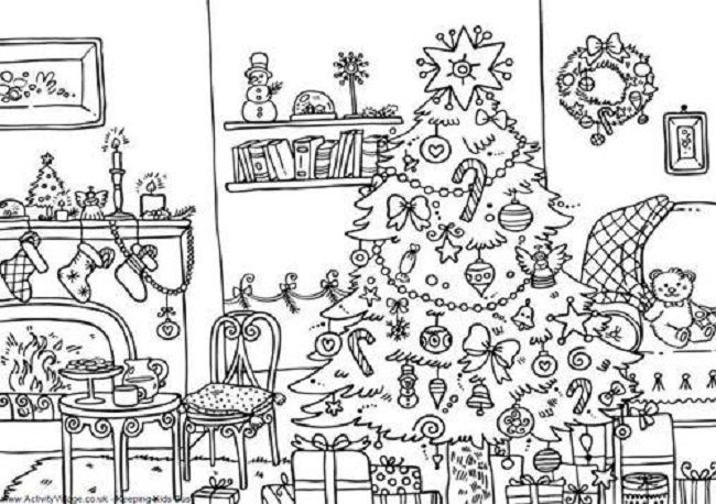 difficult christmas coloring pages to print