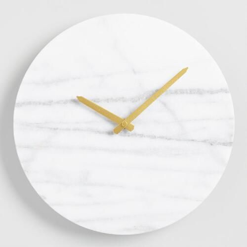Parker Marble Wall Clock World Market Marble Wall Marble Clock Wall Clock