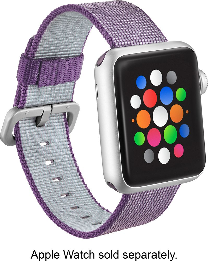 huge discount dbc8a 85e22 Modal - Woven Nylon Band Watch Strap for Apple Watch 38mm - Purple ...