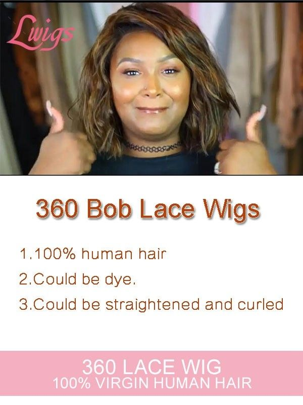 New Arrival Undetectable Dream Lace 360 Lace Front Wigs Straight Short Bob Wig Brazilian Virgin Hair 360 Lace Wigs LWigs157 #lacewigs