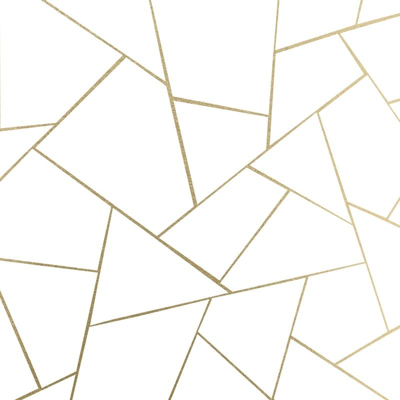 Gold White Geometric 1 Wallpaper From Happywall Com Gold Geometric Wallpaper Gold Abstract Wallpaper Gold Accent Wall Gold and white geometric wallpaper