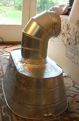 Brilliant Lampwork Vent Hood Using A Galvanized Wash Basin Vent Hood Diy Outdoor Kitchen Kitchen Vent