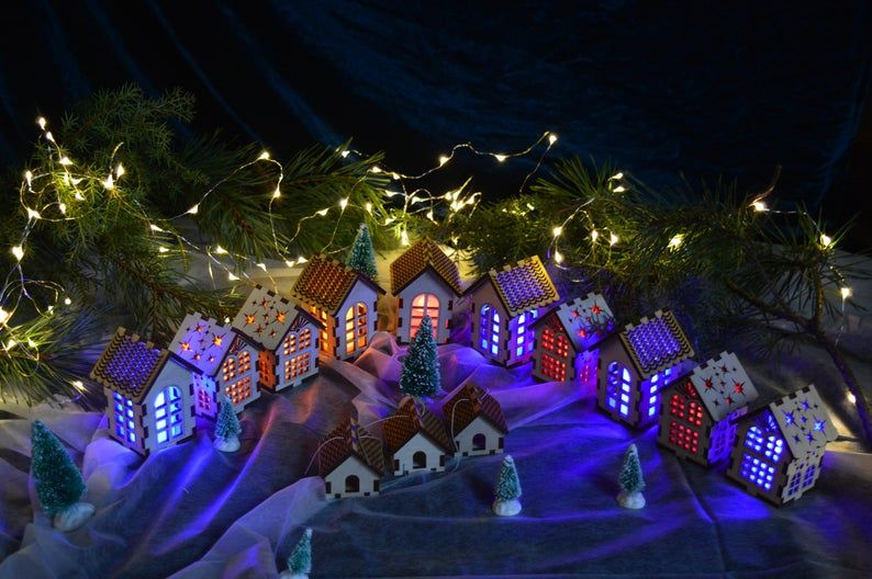 Warm Glow Christmas Open House 2020 Scandinavian Tiny Light House, Christmas Decoration, Navidad