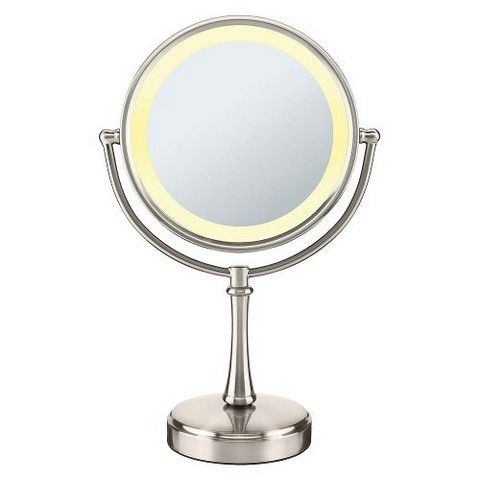 Conair Illuminated Touch Mirror Silver Makeup Mirror With Lights