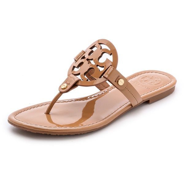 1a32700a694 Tory Burch Miller Thong Sandals (€175) ❤ liked on Polyvore featuring shoes