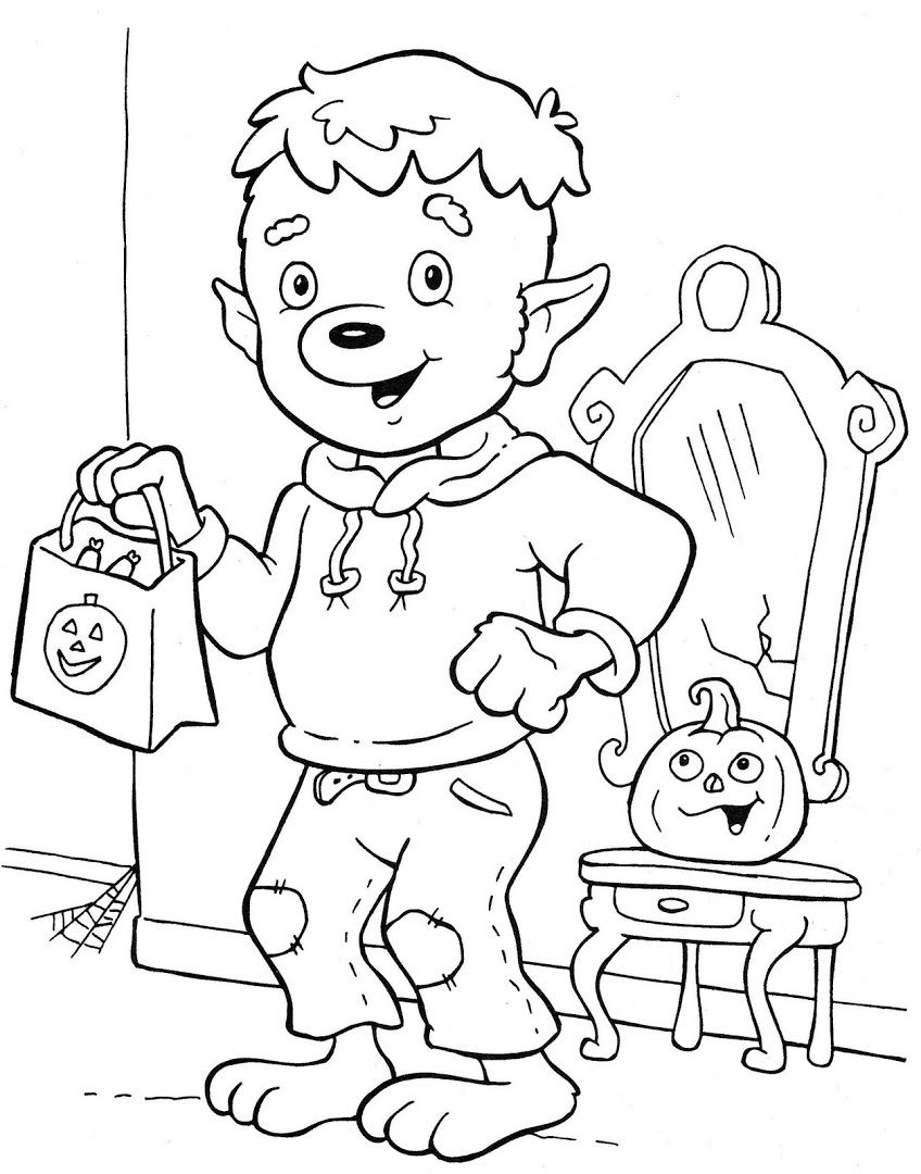 Ghostly Fun! Halloween coloring pages, Halloween
