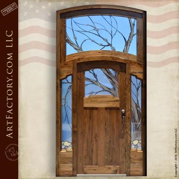 Craftsman Style Doors Handmade With All Natural Materials Craftsman Style Doors Stained Glass Art Glass Pumpkin