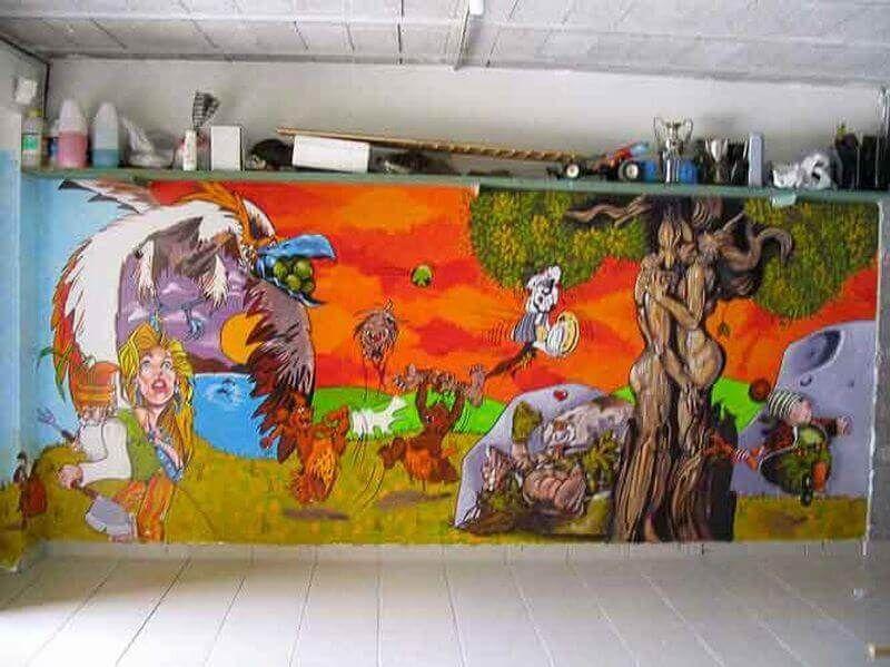 Fresque Murale Garage Peinture Acrylique Peinture
