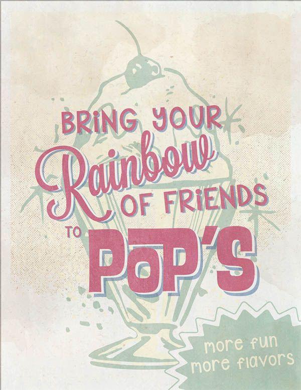 Pops Malt Shop Advertisements | Typography | Typography