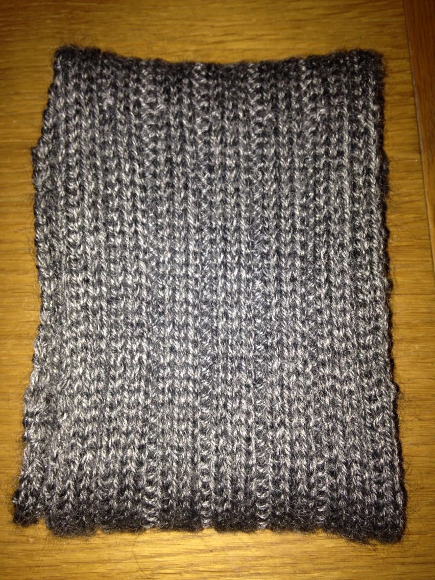 Simple men\'s scarf Cast on 35 stitches. Knit 2 rows. Row 3 - *k3, p2 ...