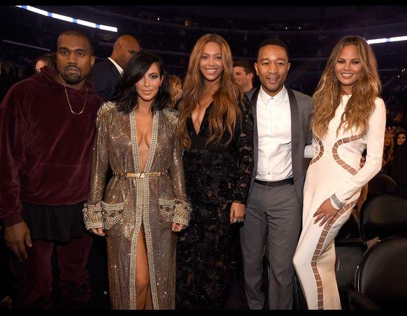 Kanye West Kim Kardashian Beyonce John Legend And Chrissy Teigen Low Key Squad Celebrity Trends Poses Celebrities