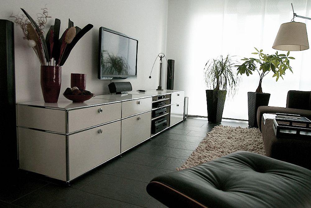 usm haller lowboard in reinweiss mit schubladen 350 mm. Black Bedroom Furniture Sets. Home Design Ideas