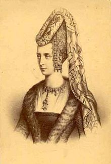 Isabeau of Bavaria (1370 - 1435). Queen of France from 1385 to 1422. She married Charles VI and had eight children. Her husband went insane so Isabeau had a girl who looked like her sleep with him so she didn't have to. She possibly had an affair with her brother-in-law as well.