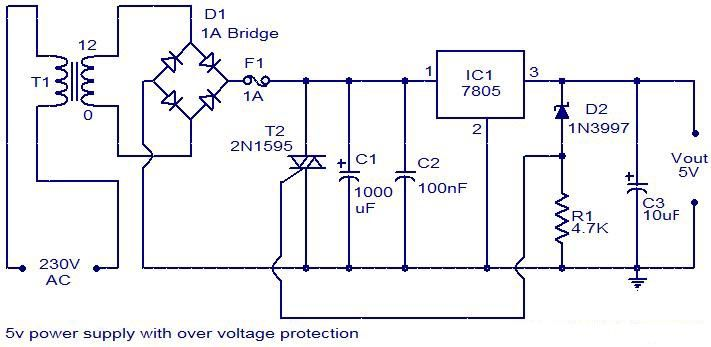 5v power supply with overvoltage protection. | electronic ...  pinterest