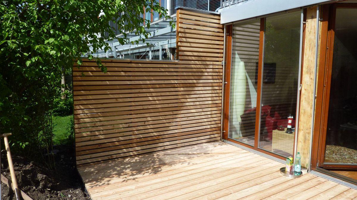 Basteln Mit Holz FUr Kinder Terrasse Sichtschutz