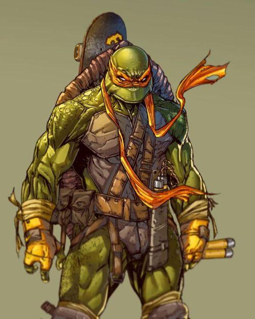 Leoarts Finishing Colors For Michelangelo Tmnt Inks By Raymondga Teenage Mutant Ninja Turtles Art Ninja Turtles Art Teenage Mutant Ninja Turtles Artwork