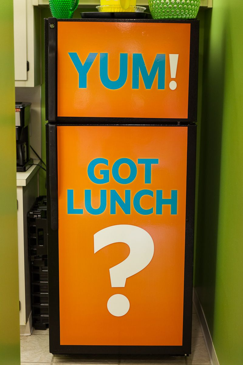 Got Lunch Our Kitchen Here At Woodruff Is Sure To Put A Smile On Your Face Refrigerator
