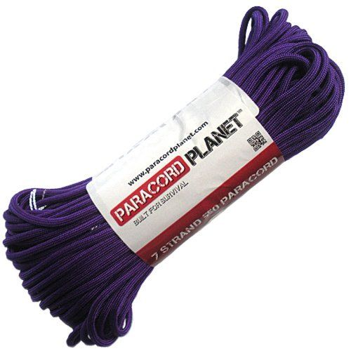 Purple Paracord 1000 Foot 550 lb 7 Strand Camping Survival Bracelet Rope