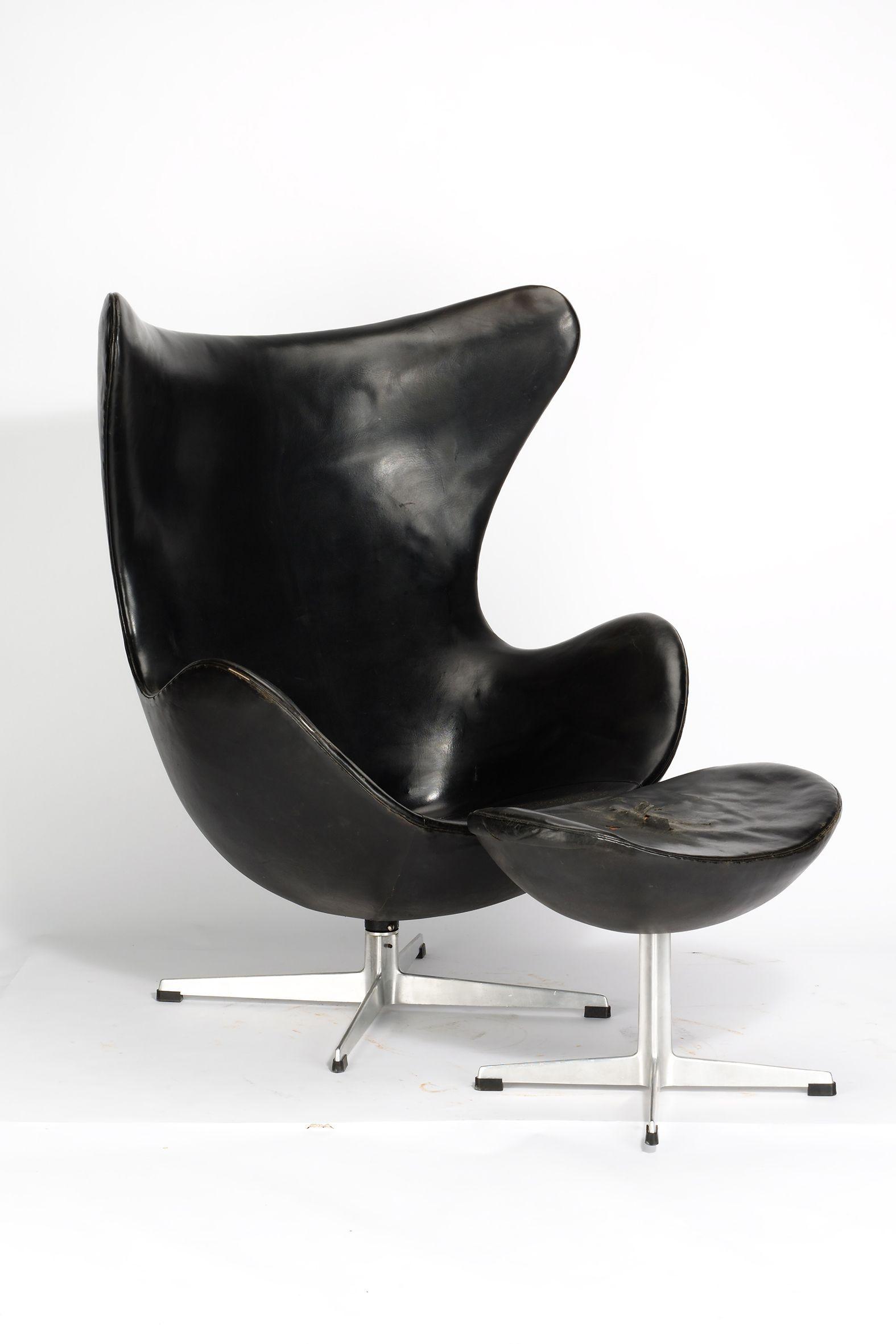Arne Jacobsen, Egg Chair Mti Ottomane Modell 3316 (1957 1958)