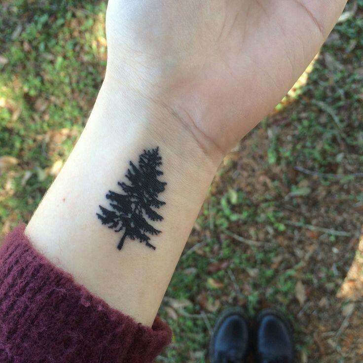 Pinterest Mountain Henna Tattoo Pics: Tattoos, Small Tattoos, Evergreen Tree Tattoo