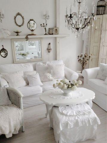 Verträumtes Stadthaus ♥ Wohnzimmer ♥ Living room Pinterest - wohnzimmer weis shabby